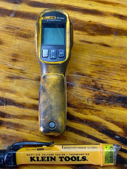 Klein Voltage Tester & Fluke Thermometer
