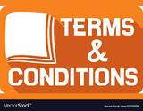 Terms and Conditions * Pickup Only Monday October 26th In Bondurant Bring your own Manpower!!