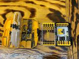 Brand new DeWalt drill driver set and organizer with approximately 20 Phillips heads and others