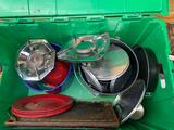 Camping cooking Items including pans plates bowls everything needed for camping