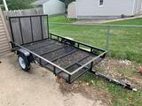 Gently used trailer from Lowe?s with the ramp 5 x 7