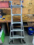 Werner 21 ft Foldable extension ladder 300 pound capacity very nice