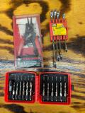 TEKTON8 in one snap ring pliers set, drill bit with bore cleaner metric and SAE and 4 piece tool