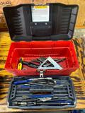 Toolbox with punches, and hammer drill attachments
