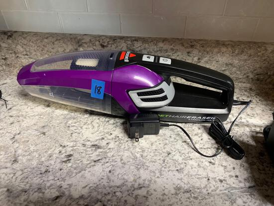 Bissell hair eraser with lithium ion battery Hand vacuum