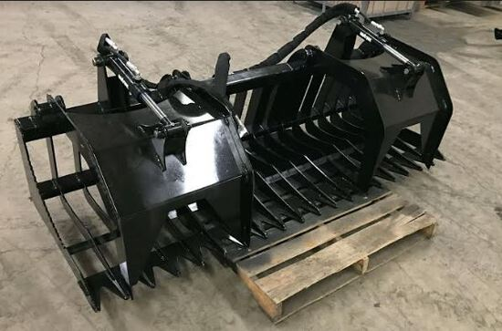 Brand new  84inch Rock and Brush grapple for skid steer