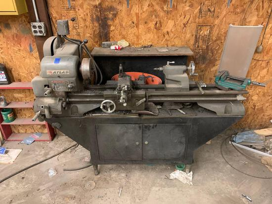 Atlas metal lathe with stand 110 power