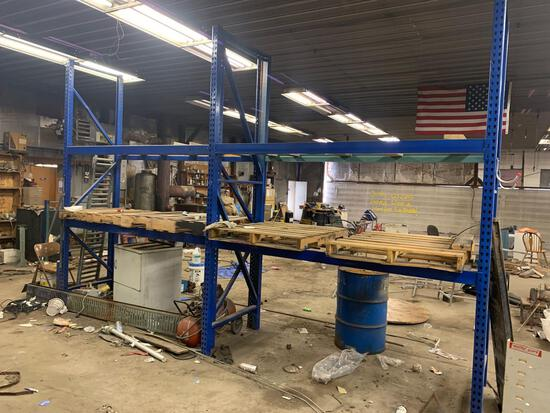 14ft total set pallet racking approx 12ft high