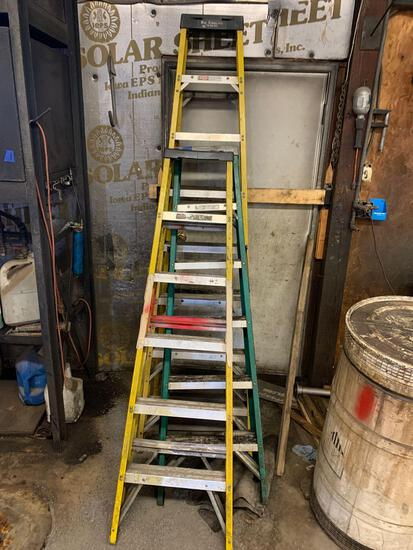Three ladders including 2- 6 foot ladders and one 8 foot ladder