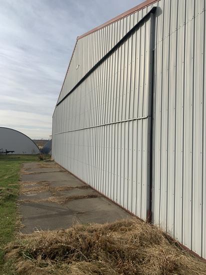 45ft hanger door located on the building sitting East & West