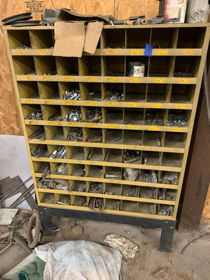 Bolts nuts and washers bin 3/4 full