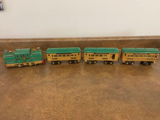 O scale American Flyer Lines #3116 Engine with 3 cars all original very good condition