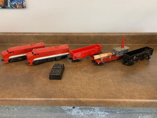 O Scale Lionel Texas Special 211 Engines and cars with switch