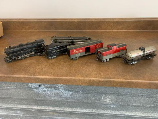 O scale Marx #999 Engine and Tender 2-4-2 box car Tank and caboose set!