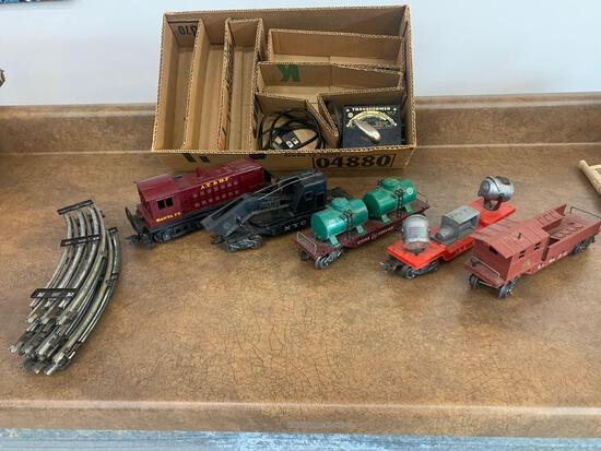 O scale Marx #1998 Diesel Switcher work train nice! Complete