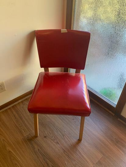 Antique Red Padded Chair