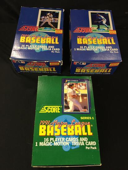 1989-1991 Major League Score