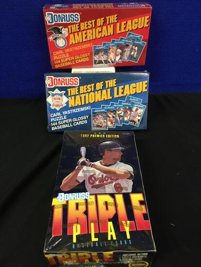 1992 premier edition DonRuss puzzle and cards
