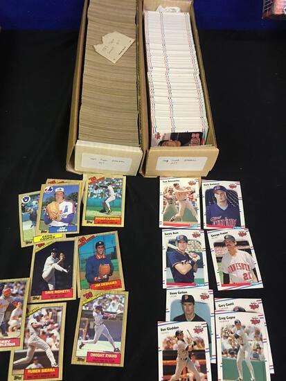 1987 Topps, 1988 Fleer baseball Cards