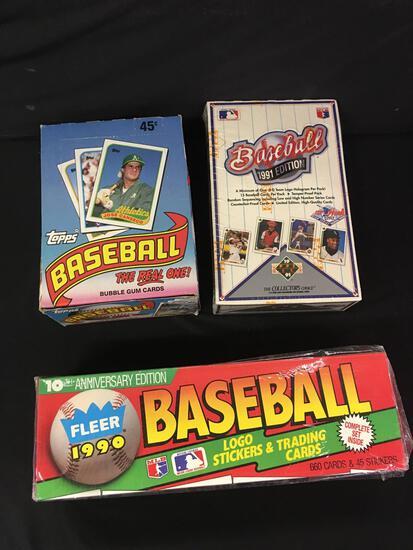 1989 Topps , 90 Fleer, 91 Edition Baseball Cards
