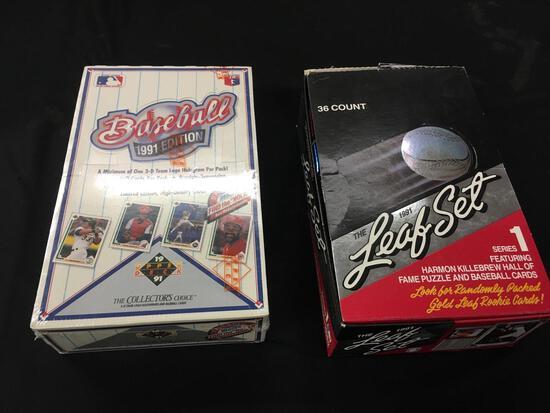 1991 Edition Baseball Cards unopened