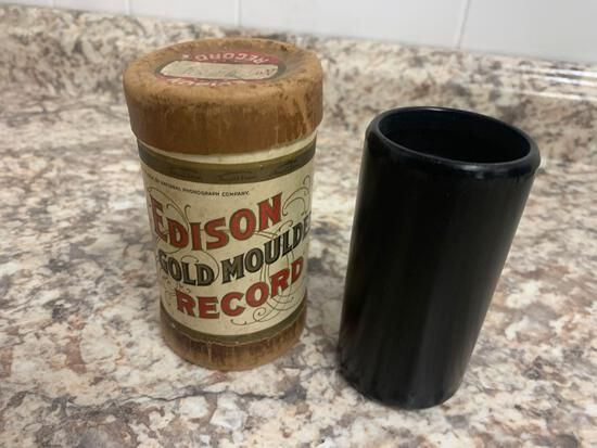 Edison gold moulded record with original case