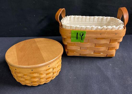 Coaster basket and tea basket 2 x $