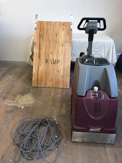 Minuteman industrial carpet cleaner used 2 times Model X17115 Voltage 120 AC AMPS 12 comes with RAMP