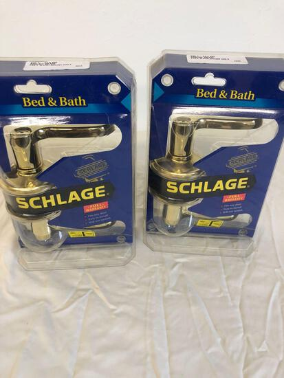 Schlage door handles for bathroom or bedroom