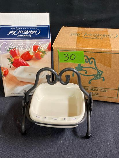 Miniature 8 x 8 baking dish and stand