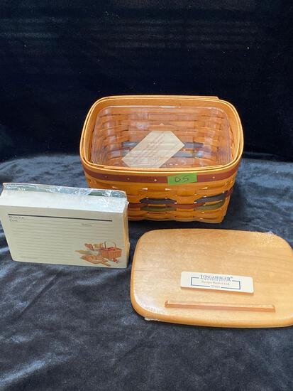 Recipe Basket with cards, lid, protector