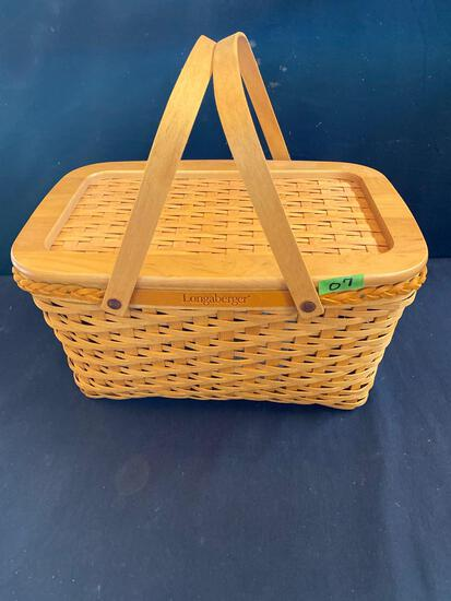 Founders day market basket with lid