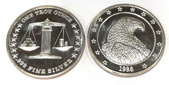 2x-1986 1 Troy oz Silver
