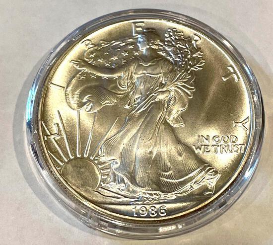 1986 American Eagle 1oz Fine Silver