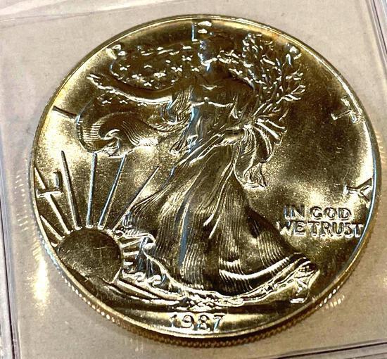 1987 American Eagle 1oz Fine Silver
