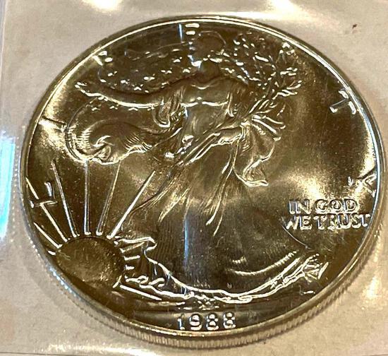 1988 American Eagle 1oz Fine Silver