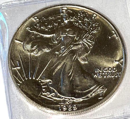 1989 American Eagle 1oz Fine Silver