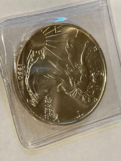 1990 American Eagle 1oz Fine Silver