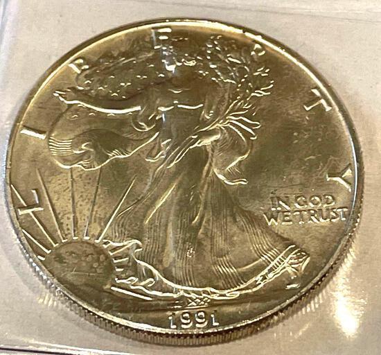 1991 American Eagle 1oz Fine Silver