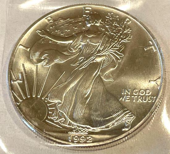 1992 American Eagle 1oz Fine Silver