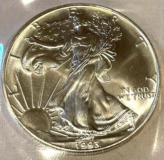 1993 American Eagle 1oz Fine Silver