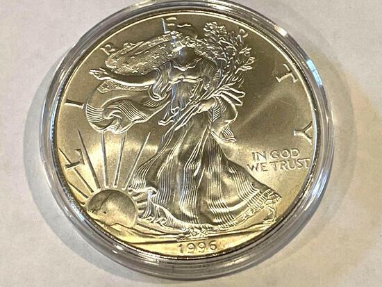 1996 American Eagle 1oz Fine Silver