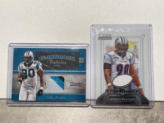 2x-Julius Peppers Jersey Cards