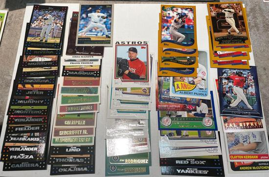 Lot of baseball cards Rodriguez, piazza, Thomas, Griffey, Clemens, Kershaw plus