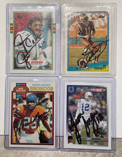 4x-Moses, Jensen, Everett, and Sorgi Autographed Cards
