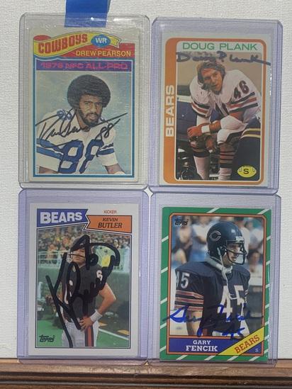 4x-Plank, Butler, Fencik, Pearson Autographed Cards