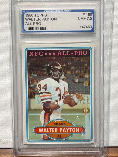 1980 Topps Walter Payton graded 7.5