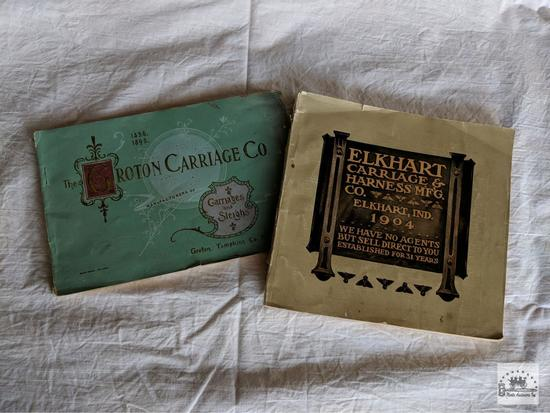 Two Antique Carriage maker Catalogues