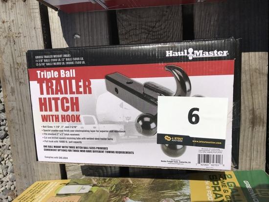 Triple Ball Trailer Hitch w/Hook