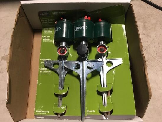 Orbit Gear Drive Sprinklers, Qty 3